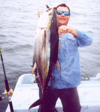 Angler with Albacore Tuna
